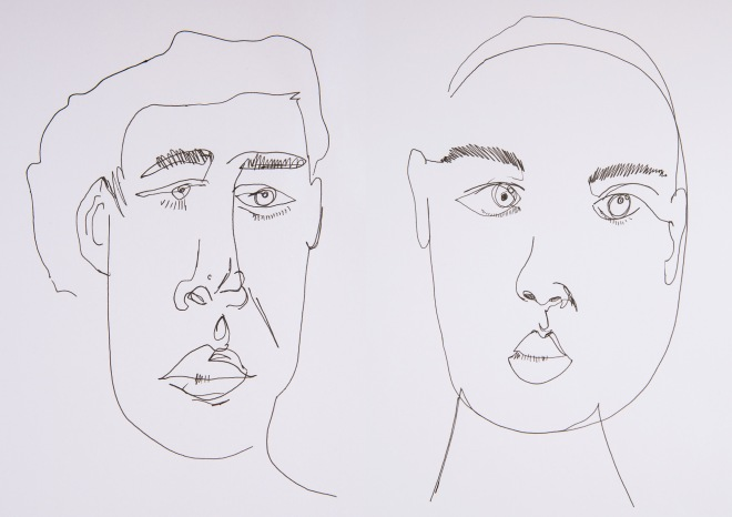The Sparkle Experiment Blind Contour Drawing
